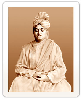 Vivekananda eyes closed